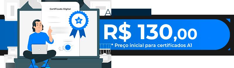 Certificados apartir de 180 reais